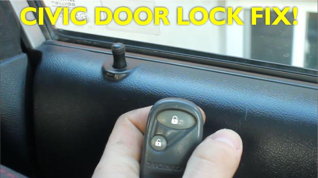 How To Replace Door Lock Actuator Honda Civic Ep3 Youtube