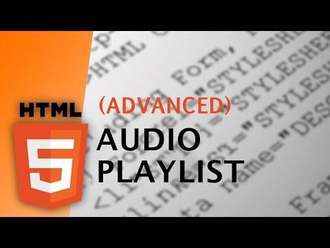 HTML - Audio Playlist (Advanced)