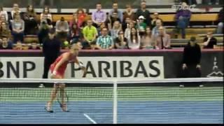 Martina Hingis vs Urszula Radwańska FULL MATCH HD Fed Cup 2015