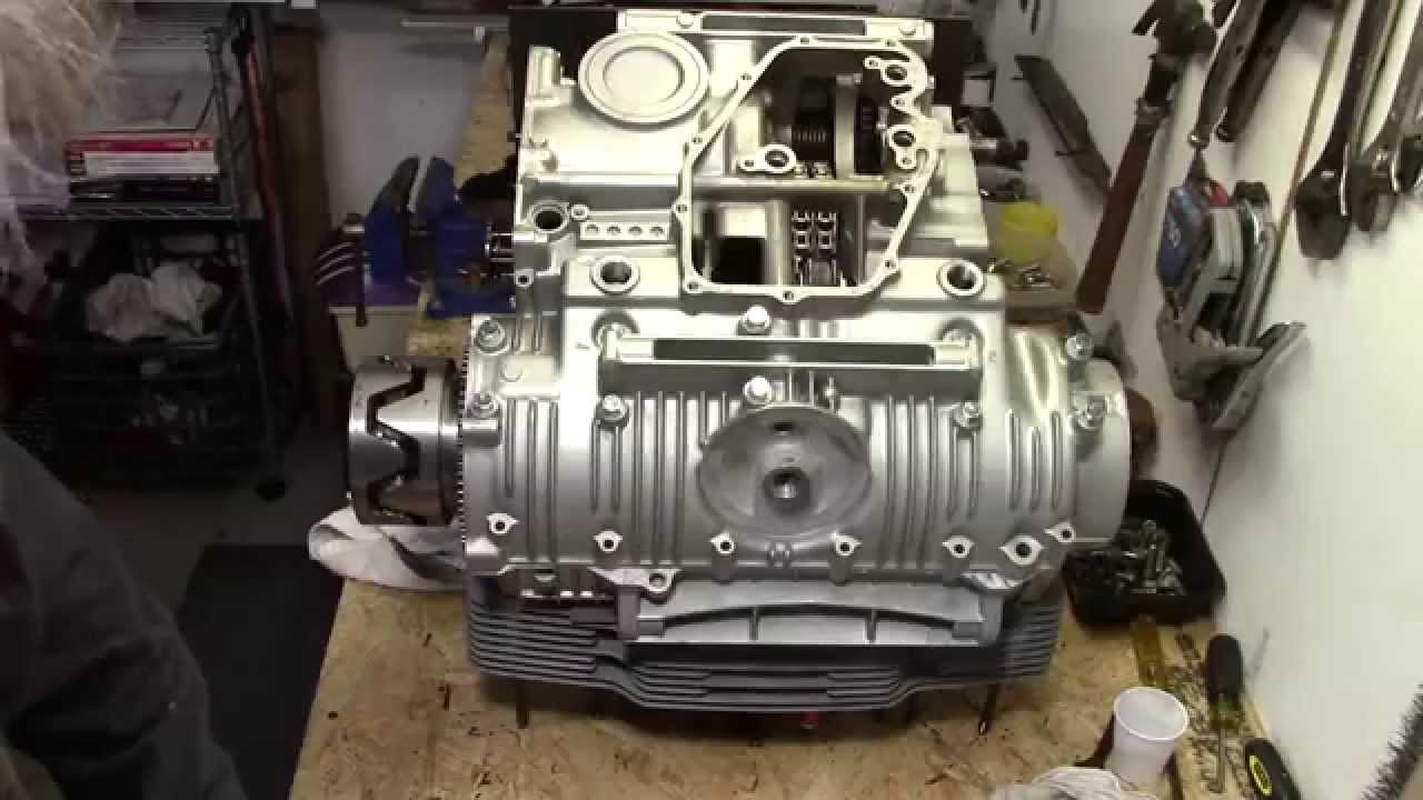 73 Honda CB750 Custom Build Part 15  Assembling The Crankcase Halves  YouTube