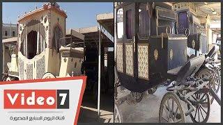 شاهد أنواع السيارات المستخدمة بأفلام الزمن الجميل بمدينة الانتاج الإعلامى