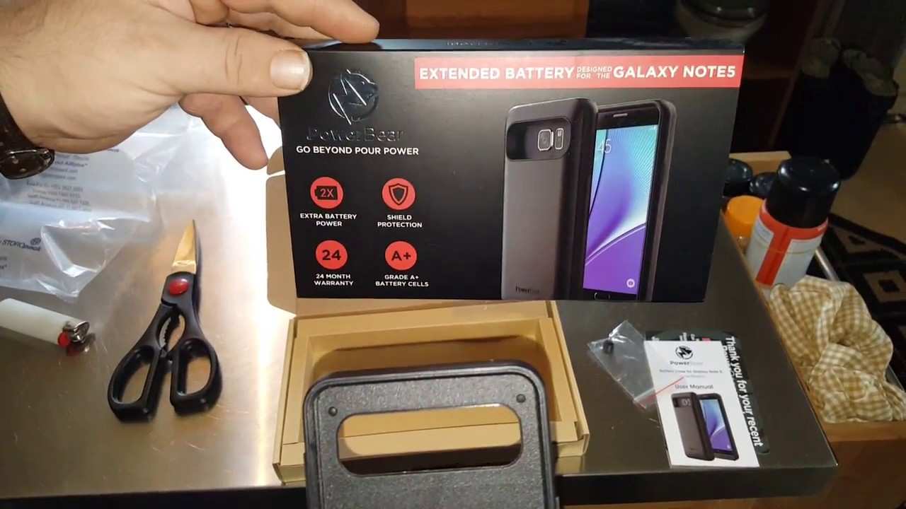 new concept 96bf0 cc990 Note 5 Power Bear 5000mah unboxing