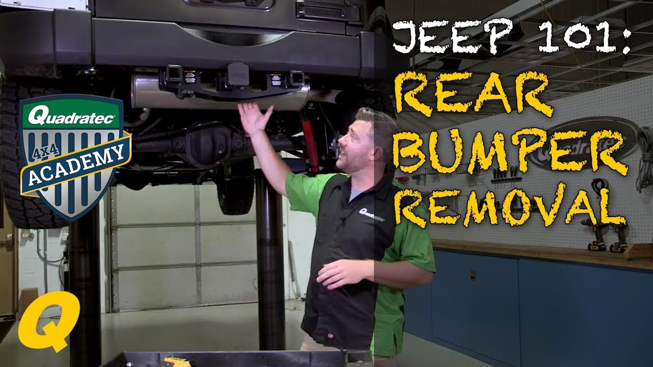 How To Remove Factory Rear Bumper On Your Jeep Wrangler Jk Youtube 1994 Engine Diagram Fuel