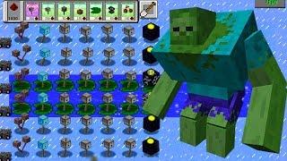 Plants vs Zombies Mod Minecraft - TEAM PLANTS MINECRAFT FIGHT!