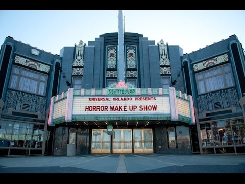 Horror makeup show &drive in ,Universal studio orlando Florida