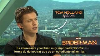 Entrevista a Tom Holland! Spiderman: De Regreso a Casa