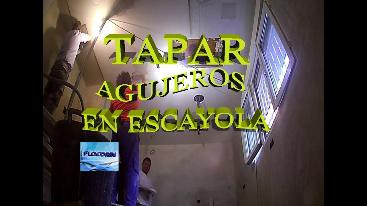 Como tapar agujeros en techos de escayola youtube - Tapar agujero techo ...