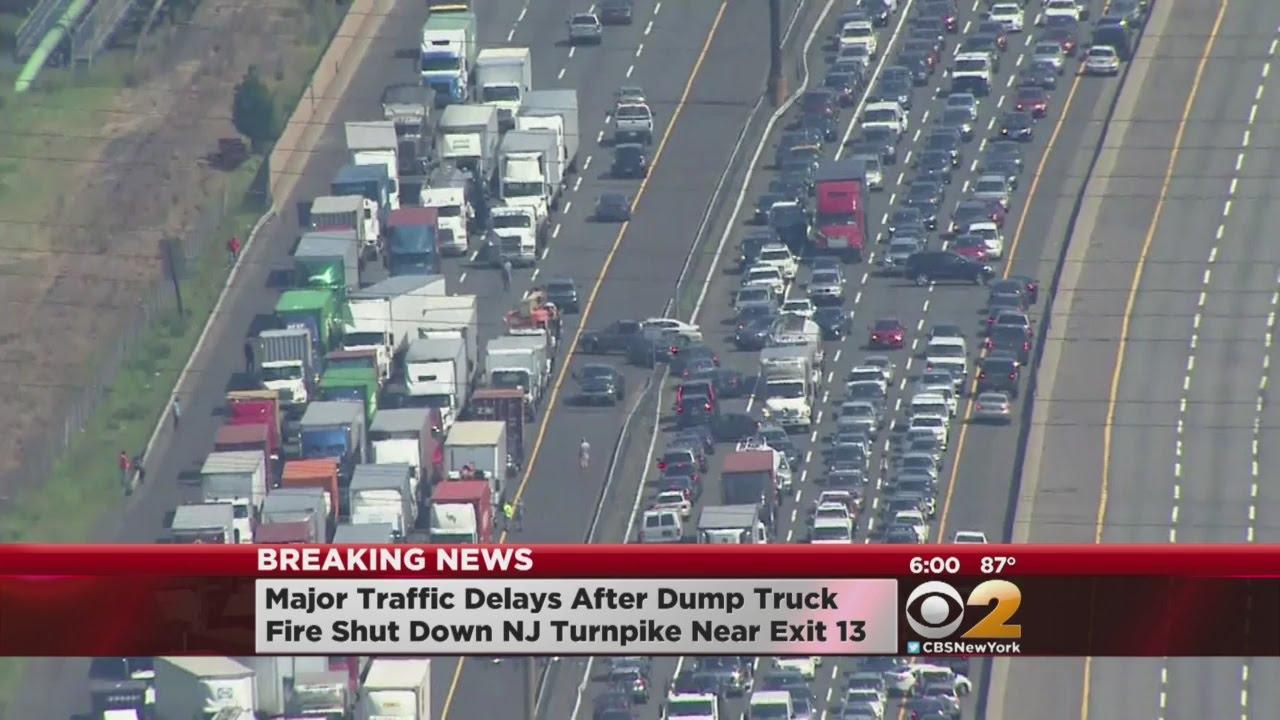 NJ Turnpike Truck Fire