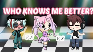 Who knows me better? | Boyfriend VS BFF VS EX/Friend | who you think is going to win? | Gacha Life