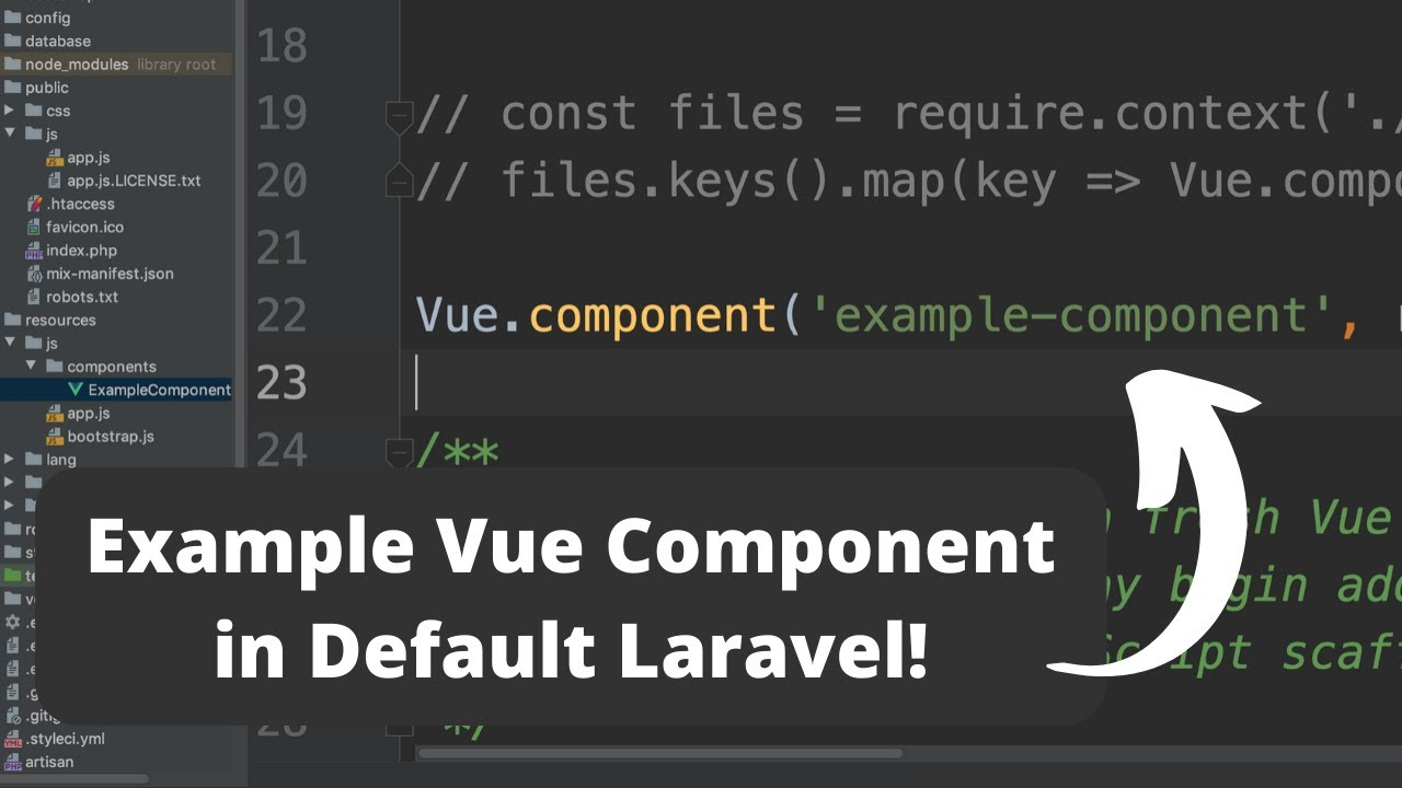 Learn Vue.js Basics from Default Laravel Installation