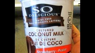 """so Delicious"" Non-dairy Gluten-free Strawberry Yogurt (cultured Coconut Milk): Product Review"