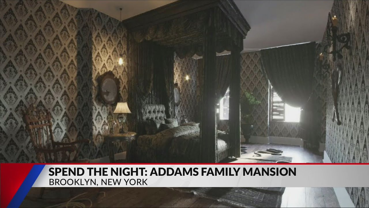 Spend the night at the Addams Family Mansion - YouTube
