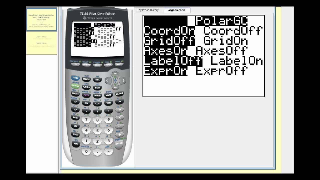 Graphing polar equations on the ti84 graphing calculator youtube.