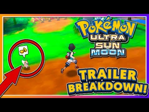 Pokémon Ultra Sun & Ultra Moon - TRAILER BREAKDOWN + POKEMON FOLLOWING?!