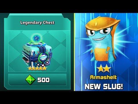 "NEW SLUG ""ARMASHELT"" and LEGENDARY CHEST   Slugterra Slug it out 2 Bajoterra"