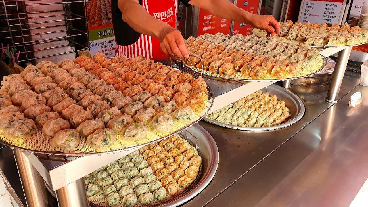 하루에 6000개씩 팔리는 만두!? 만두로 동네를 평정한 역대급 만두가게 So amazing! making handmade dumplings - Korean street food
