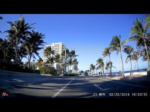 Driving from Fort Lauderdale Beach to Boca Raton, Florida via the A1A - 2.25.18