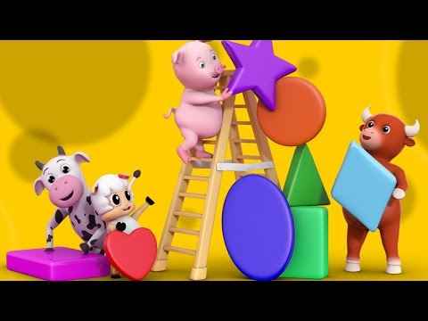The Shapes song | Nursery Rhymes Farmees | Learn Shapes | Kids songs by Farmees S01E154