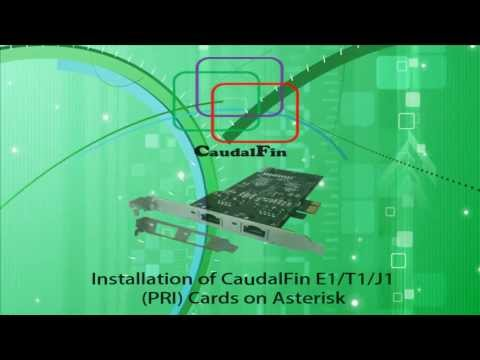 Asterisk E1/T1/J1 (PRI) Card Installation using CaudalFin DA