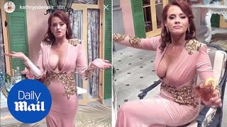 Kathryn Dennis shows off new breasts backstage at Southern Charm reunion - Daily Mail