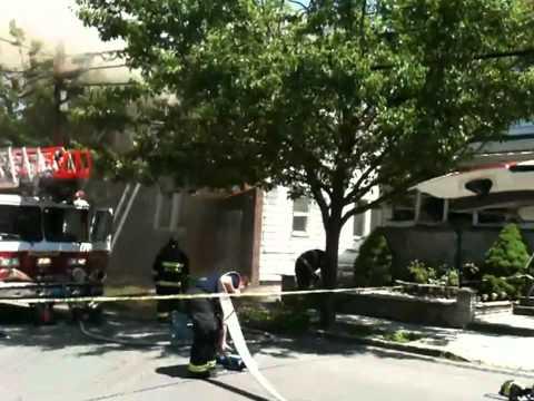 (unedited) Belleville, NJ house fire 05-13-2012 at 74 Harrison St (3-alarm)