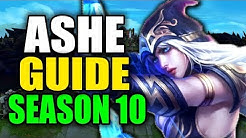 SEASON 10 ASHE GAMEPLAY GUIDE - (Best Ashe Build, Runes, Playstyle) - League of Legends