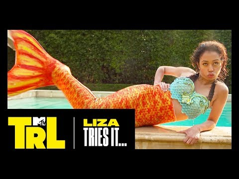 Liza Koshy & Gabbie Hanna Become Mermaids IRL | Liza Tries It | TRL