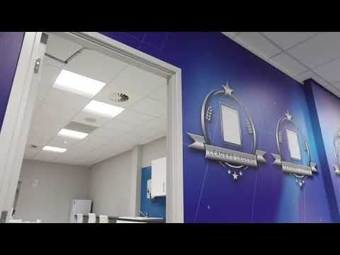 Back to work? Plan your estate agent office design or branding in an open-plan office.