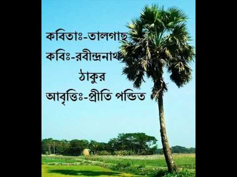 Bangla Kobita Abritti/Bengali Poetry Reciation/Taal gach (Rabindranath Tagore) BY PRITI PANDIT