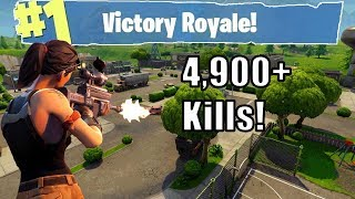 Fortnite | KILLING MACHINE! 4,900+ Kills. Will I get 5,000 kills today!?