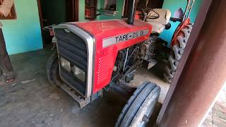 Antique Tafe 25 DI tractor model 1988 over view