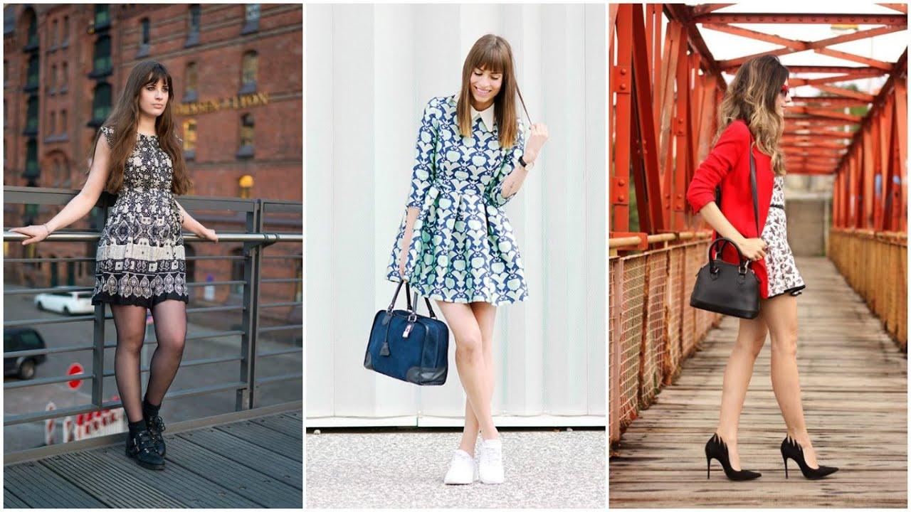VESTIDOS CASUALES JUVENILES ♥ MODA 2016 Vestidos Moda Fashion , YouTube