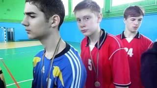 Гандбол. Награждение победителей, лучших игроков и тренеров гандбольного турнира в г. Хмельницком.
