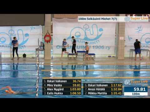 6 100m Selkäuinti Miehet Heat 7 11 43 40