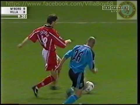 Middlesbrough 0 Aston Villa 4 - FA Carling Premiership - 14th Feb 2000