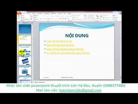 Cách thêm ,xóa, di chuyển giữa các slide trong Powerpoint 2010