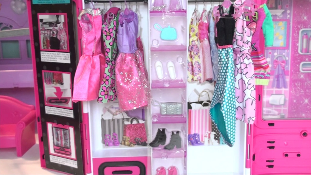 Barbie dream house pink bedroom barbie clothes barbie for Barbie dream house bedroom