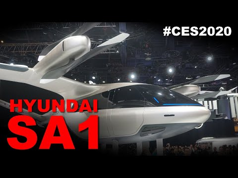Hyundai SA-1 Air Taxi: 12 Propellers, 5 People
