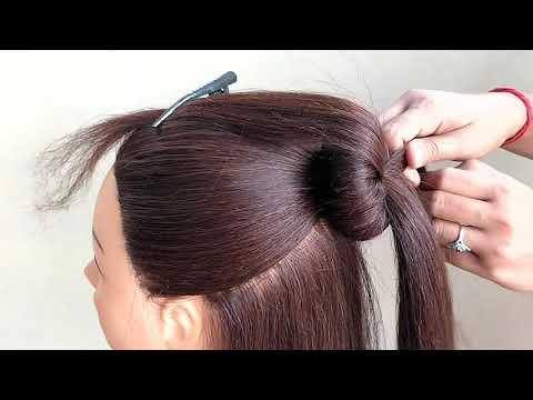 Beautiful Hairstyle   Half Bun Hairstyle   تسريحات الشعر الجميلة   Красивые прически   Mooie kapsels thumbnail
