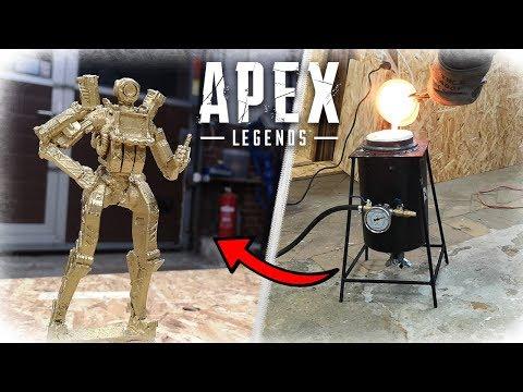Casting APEX LEGENDS Bronze Statue (Pathfinder) - Lost PLA Casting