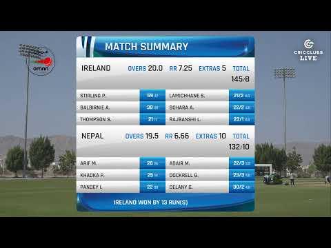 LIVE CRICKET - Nepal vs Ireland T20 International