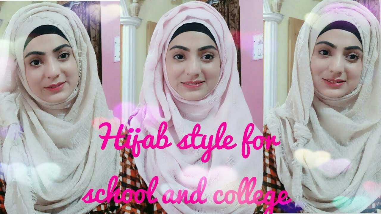 Easy Hijab style for school and college /hijab clothes/ full front  coverage!! 6 Hijab with Sabha
