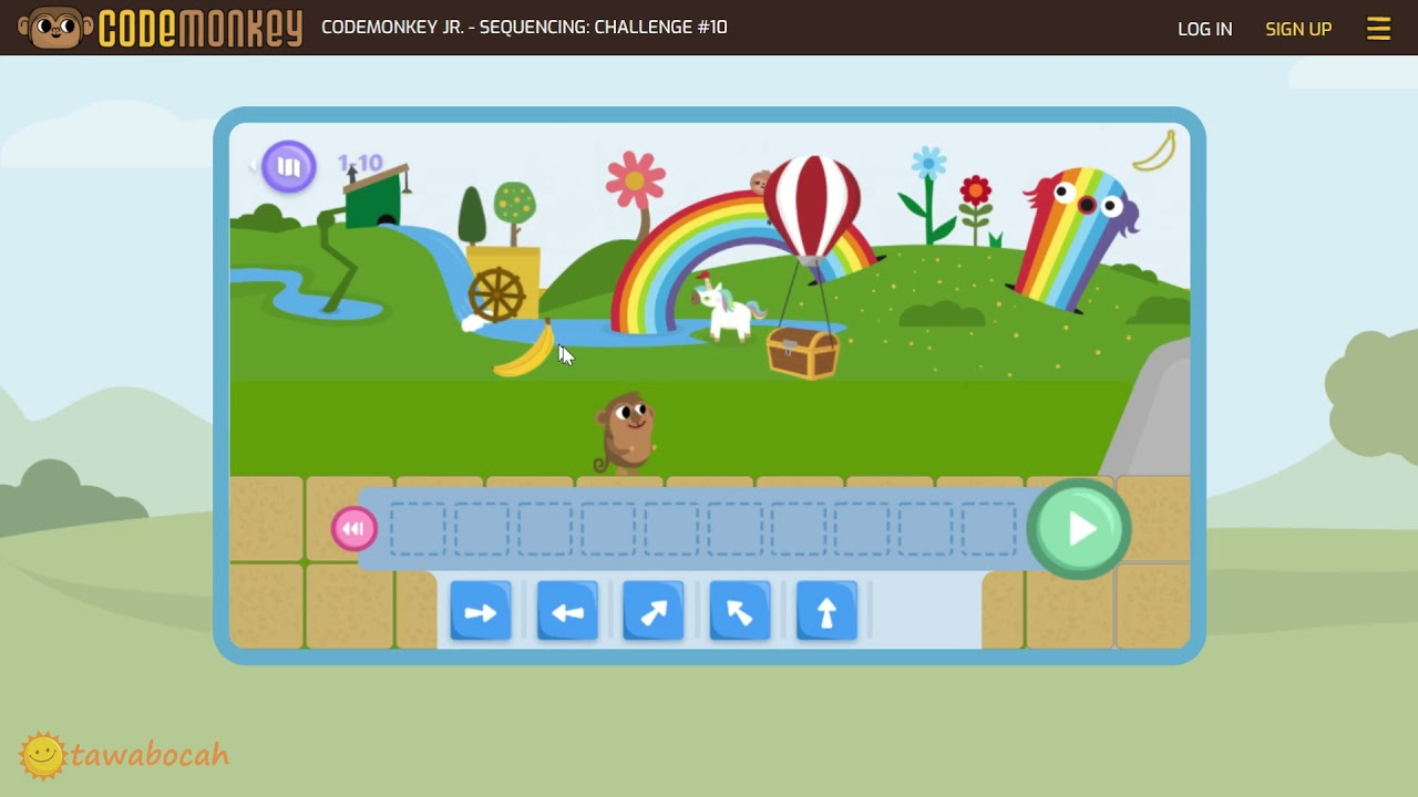 Codemonkey Jr Review - Monkey Sequencing (Coding for 4-6 Years Kindergarten)
