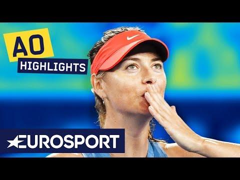 Maria Sharapova vs Caroline Wozniacki Highlights | Australian Open 2019 Round 3 | Eurosport