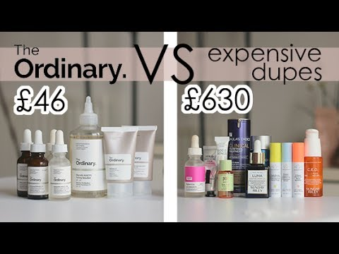 The Ordinary Serums & Acids REVIEW VS Their Expensive Dupes | Raquel Mendes