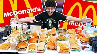 My 15 Year Old Brother Ate The Entire McDonald's Menu in 10 Minutes
