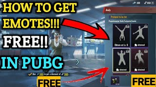 How To Get Emotes Free In Pubg Mobile | Get Emotes Free In Pubg Mobile