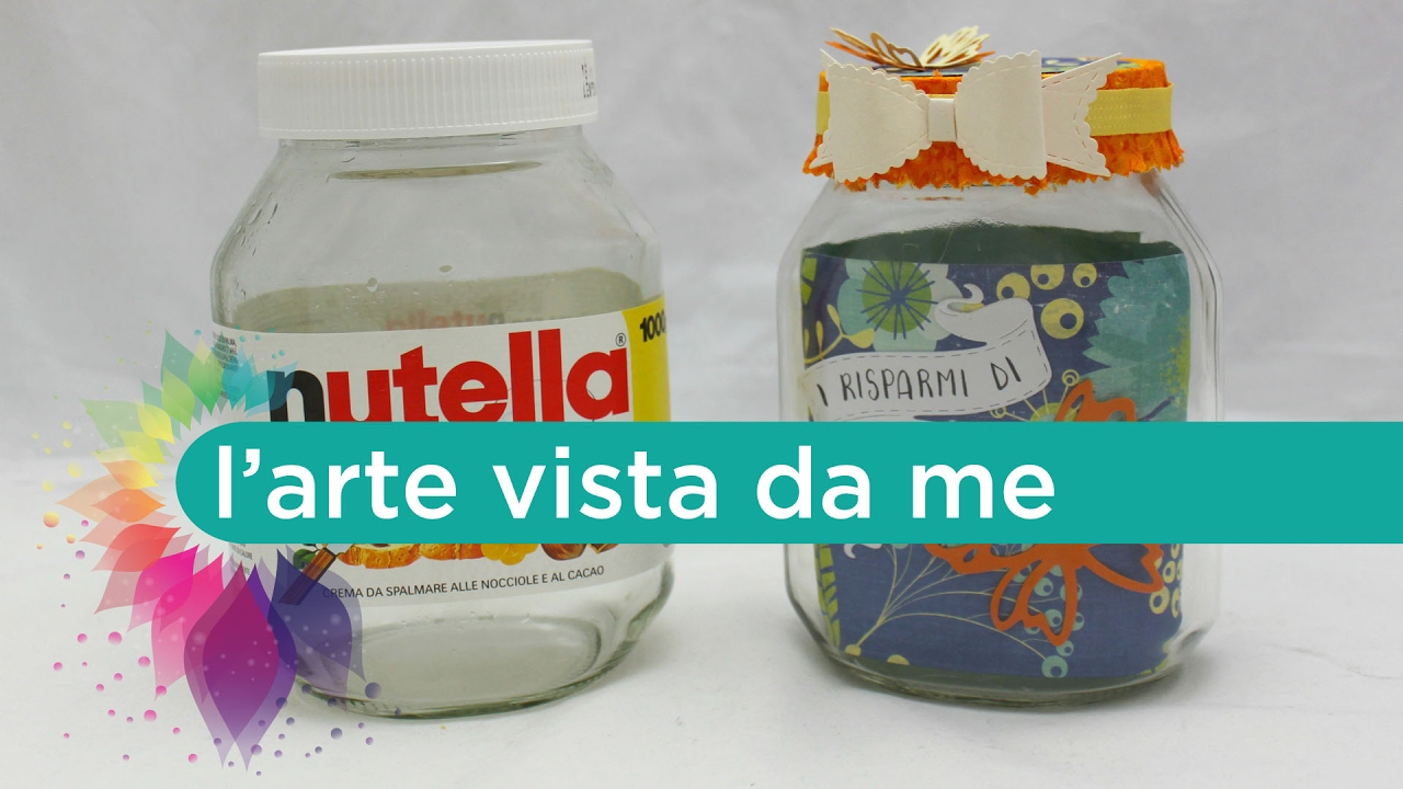 Salvadanaio fai da te riciclo creativo barattolo in vetro for Cucina giocattolo fai da te