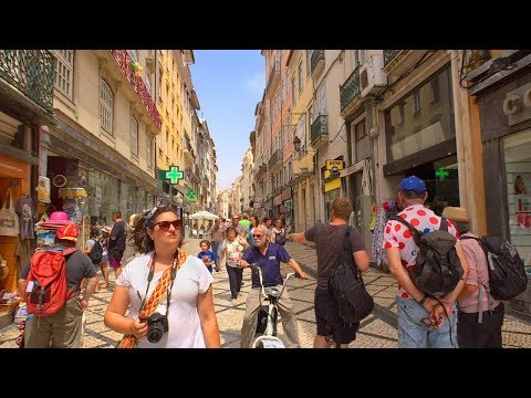 Coimbra, Portugal - Summer Walk Tour in STUNNING Historic Riverfront City