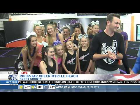 Amanda Live at Rockstar Cheer - Good Morning Carolinas - WPDE ABC 15